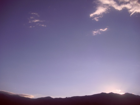 Andean sunset Stock Photo