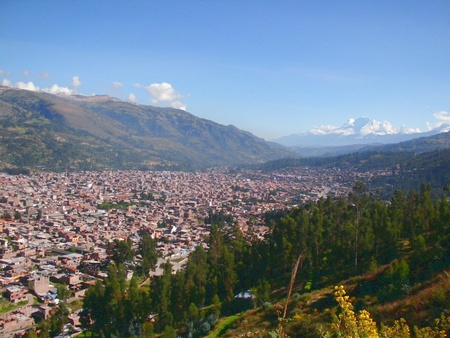 city Huaraz Peru Stock Photo - 13775167