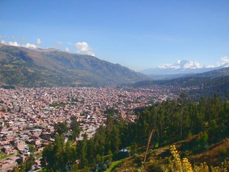 city Huaraz Peru Stock Photo - 13775167