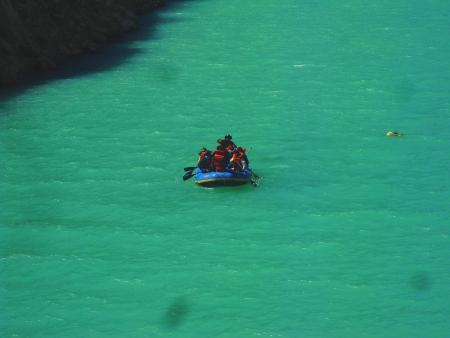 local authorities in the lagoon boat Paron Ancash Peru