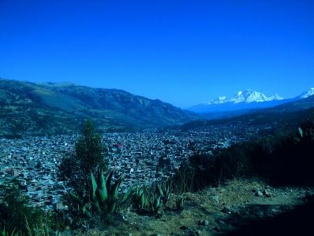 city Huaraz Peru Stock Photo