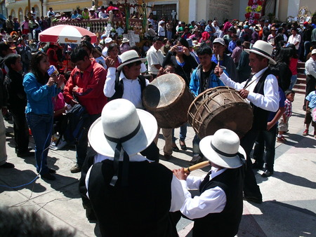 Andean musicians in party Editorial