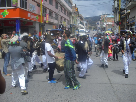 joy and color in Andean religious holidays Editorial