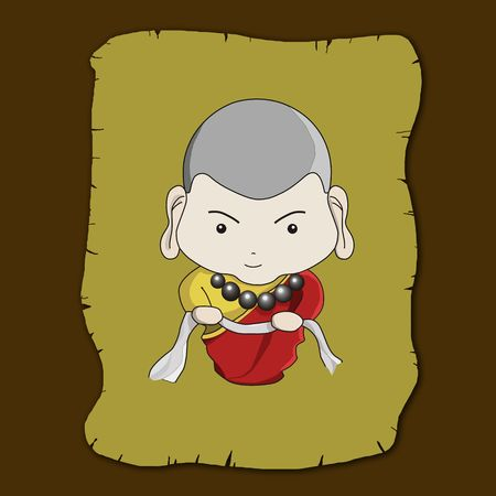 good karma: Buddhist illustration
