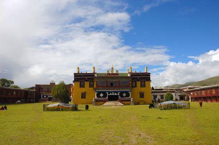 Grassland on the tibetan temple photo