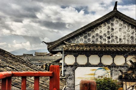 The old house,Lijiang River,china photo