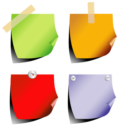 propina: color de la etiqueta, vector