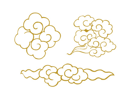 auspicious clouds,Vector