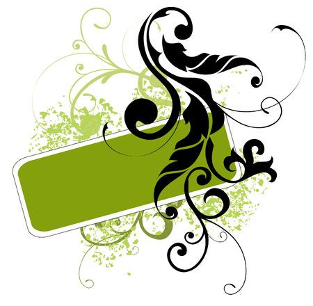 텍스트에 대 한 추상 녹색 배경 일러스트