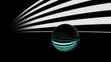 crystal ball and stripe photo