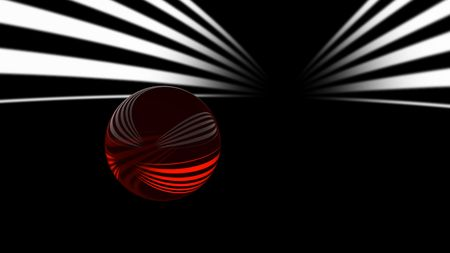 stria: crystal ball and stripe Stock Photo