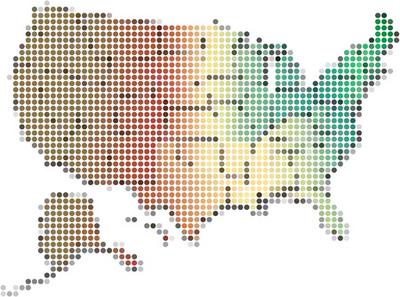 dot america map,Vector Illustration