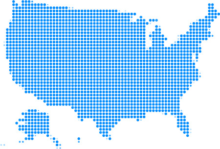 Mosaic america map,Vector