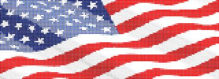american flag-Pixel series (vector) Stock Vector - 4641332
