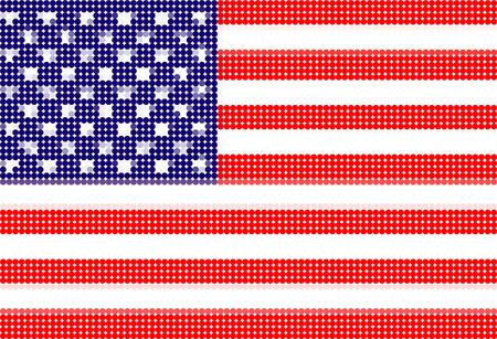 american flag-Pixel series (vector) Vector