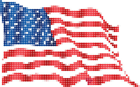 american flag-Pixel series (vector)