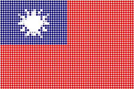 Taiwan flag-Pixel series (vector) Stock Vector - 4641316