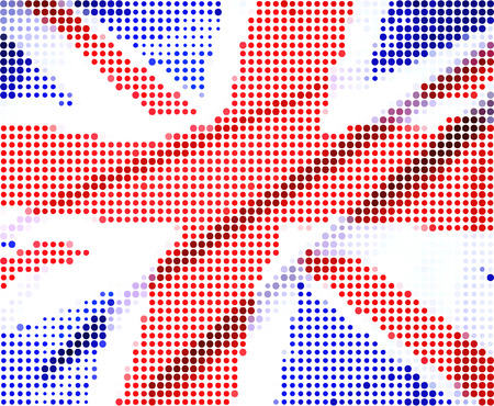 south west england: UK flag-Pixel series (vector) Illustration