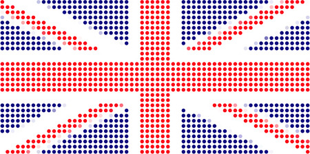 UK flag-Pixel series (vector) Stock Vector - 4641317