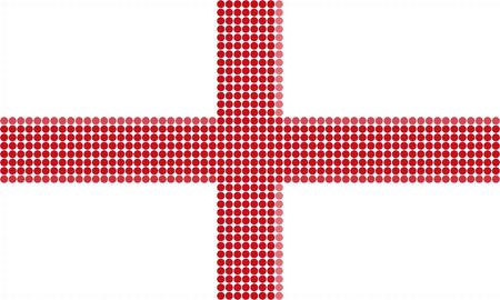 England flag-Pixel series (vector) Stock Vector - 4641320