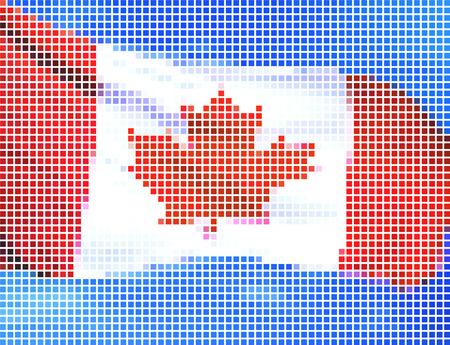 Canada flag-Pixel series (vector) Stock Vector - 4641324
