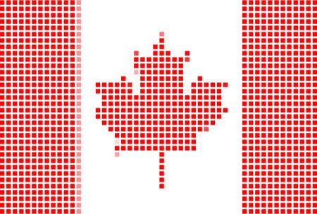 Canada flag-Pixel series (vector) Stock Vector - 4641321