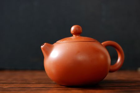 Isolated oriental tea set photo