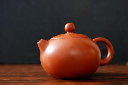 Isolated oriental tea set 版權商用圖片