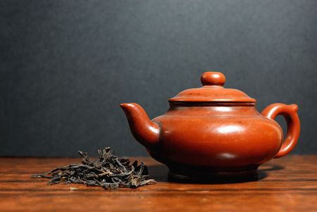 Oriental tea set and Green tea