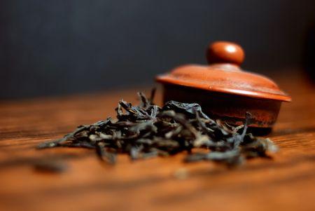 Oriental tea set and Green tea