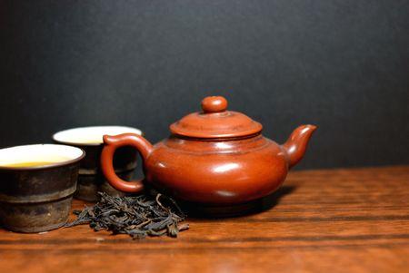 Oriental tea set photo