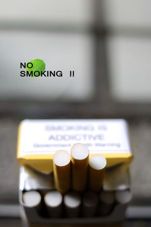 ad: Stop smoking design Stock Photo