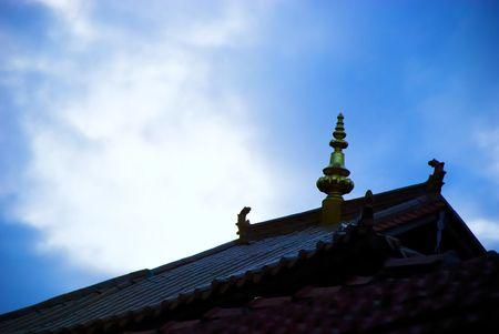 tibetan house with blue sky photo