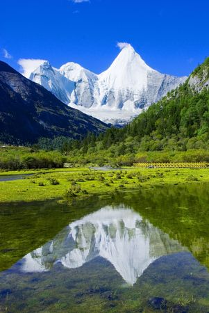 The reflection of snow mountain.(elevation of 5958m)