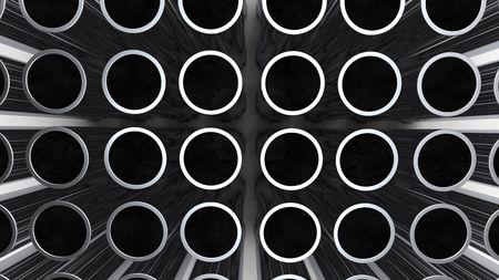 plastic pipe: aluminium pipe
