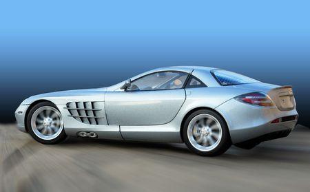 cabrio: De super auto met blauwe achtergrond Stockfoto