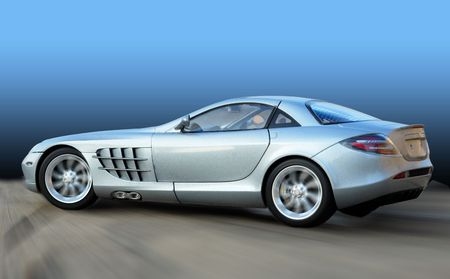 The super car with blue background