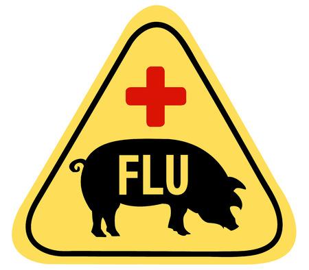 Swine Flu Sign Stock Vector - 4770285