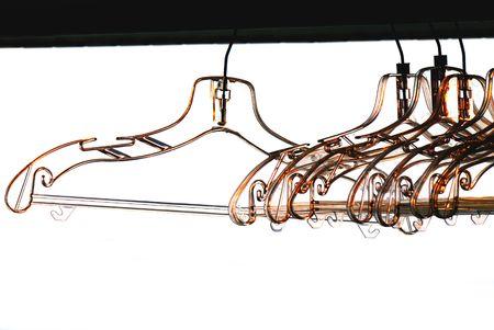 clotheshanger: coathangers on white background Stock Photo