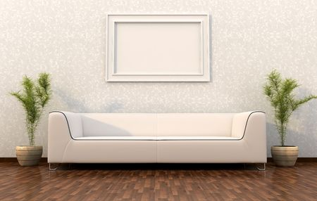 couch: interior design  Stock Photo