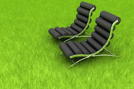 chair on grass photo