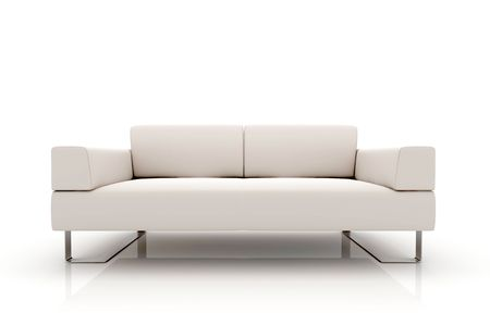 Modern sofa on White Background Stock Photo - 5716257