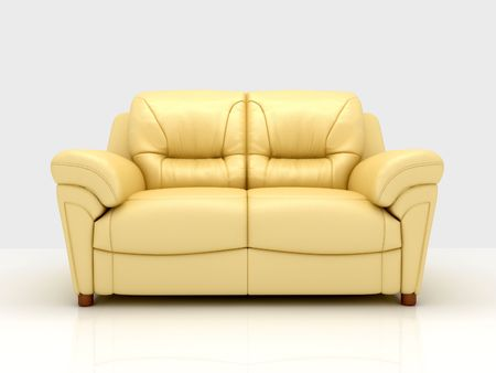 Modern sofa on White Background Stock Photo - 5716250