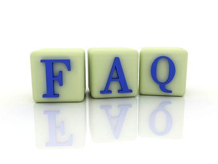 3D FAQ Stock Photo - 5895806
