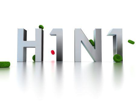 Swine flu(H1N1) -3D image photo