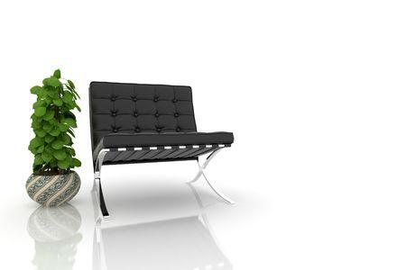 modern sofa on white background Stock Photo - 6059006