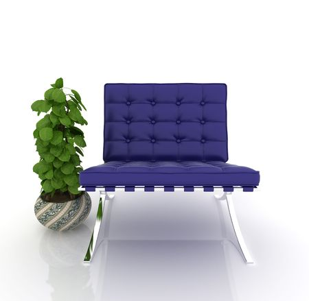 modern sofa on white background Stock Photo - 6058935