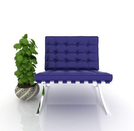 modern sofa on white background Stock Photo - 6058935