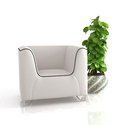 modern sofa on white background Stock Photo - 6059002