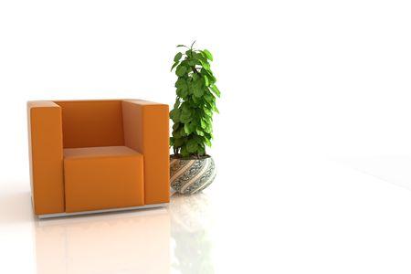 modern sofa on white background Stock Photo - 6059005